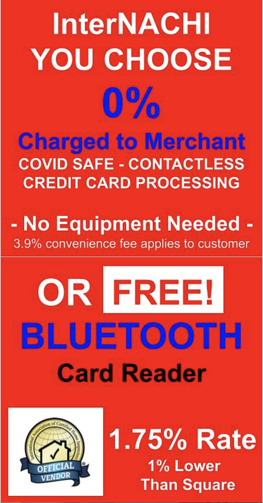 Click here for a free credit card reader.