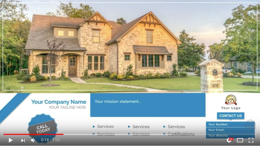 Customized Promotional Videos for Home inspectors