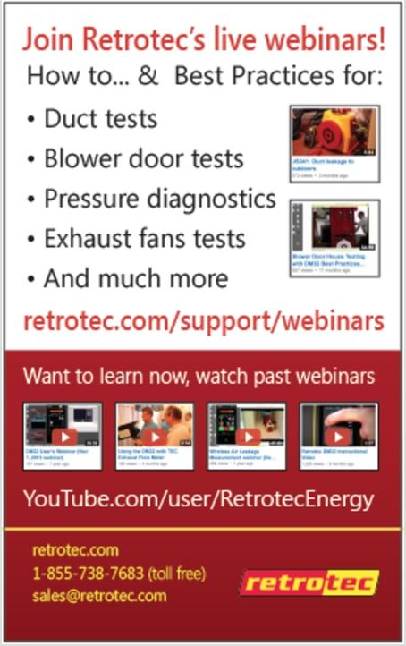 Retrotec Blower Doors & Duct Tests.