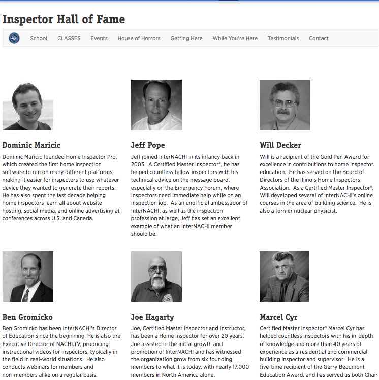 Click here for the Inspector Hall of Fame.