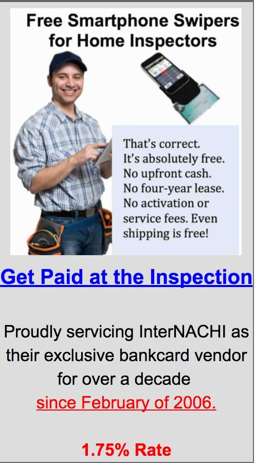 Free Smartphone Swipers for Home Inspectors