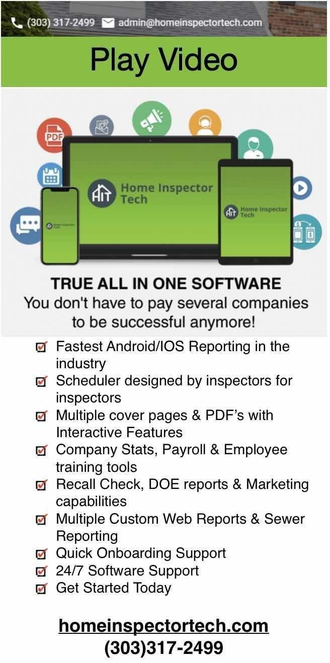 Click here for home inspector tech software.